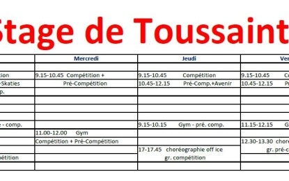 Stage de Toussaint – Update!